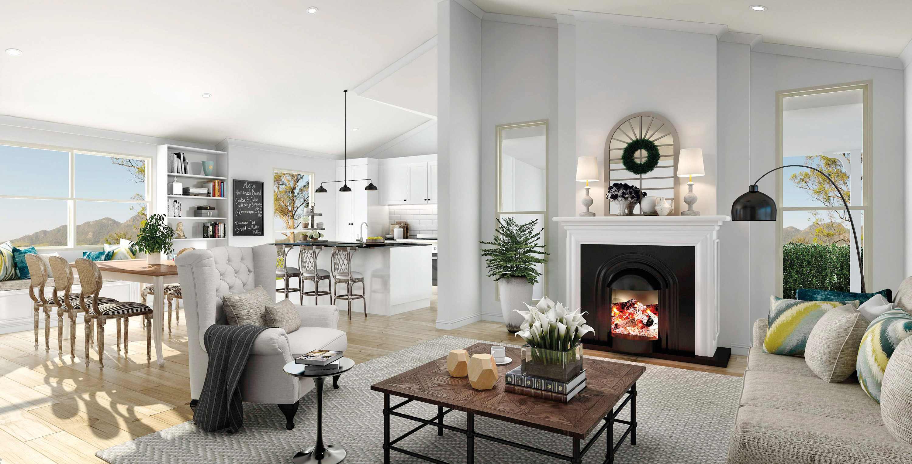 Manor Homes AgQuip Country Display Home Interior Living