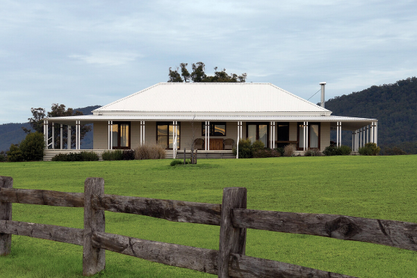 Gloucester white modular home in paddock